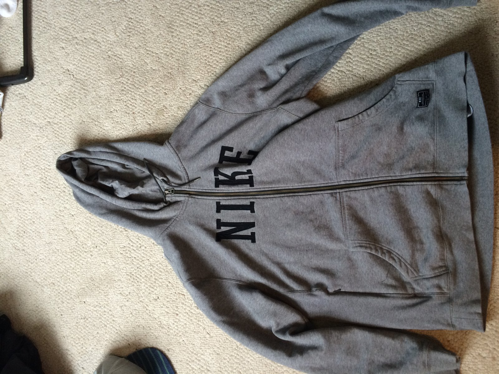 xl nike hoody zip