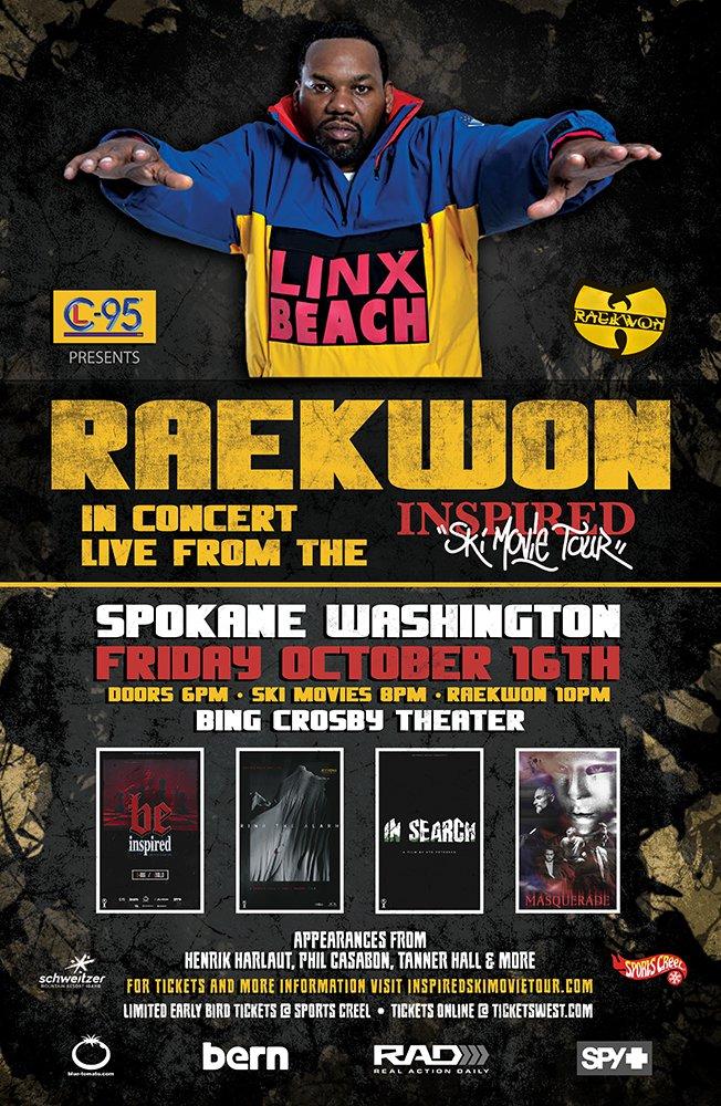Raekwon at Inspired Ski Movie Tour Spokane, WA