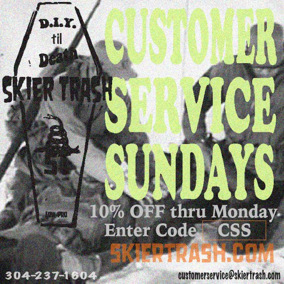 CUSTOMER SERVICE SUNDAYS - 10% OFF THRU MONDAY