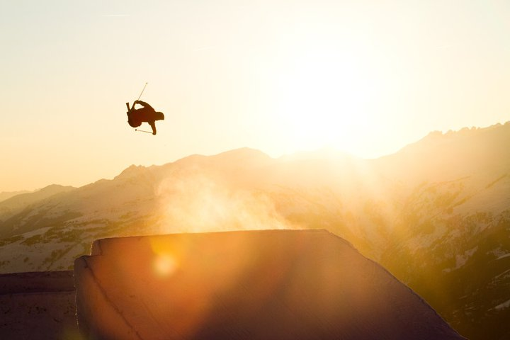Sunset jump in France