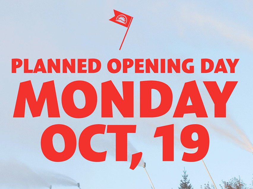 Sunday River Plans to Open Monday October 19th