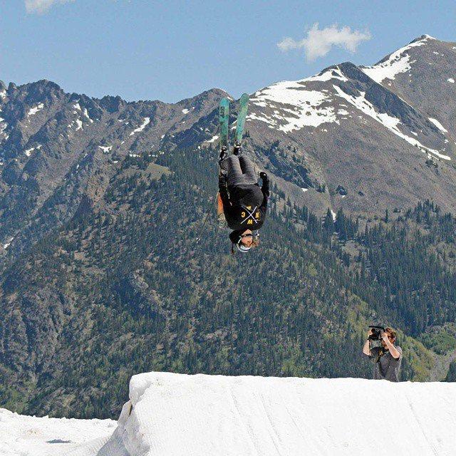 Summer Skiing Backflip