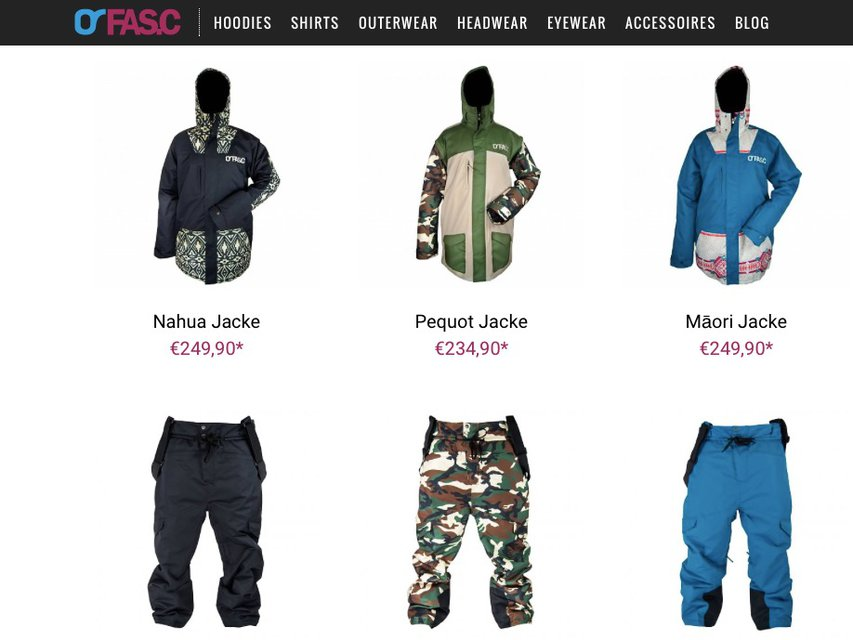 FASC Outerwear Collection 2015/2016