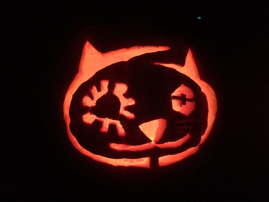 Kitten Fac-o-lantern