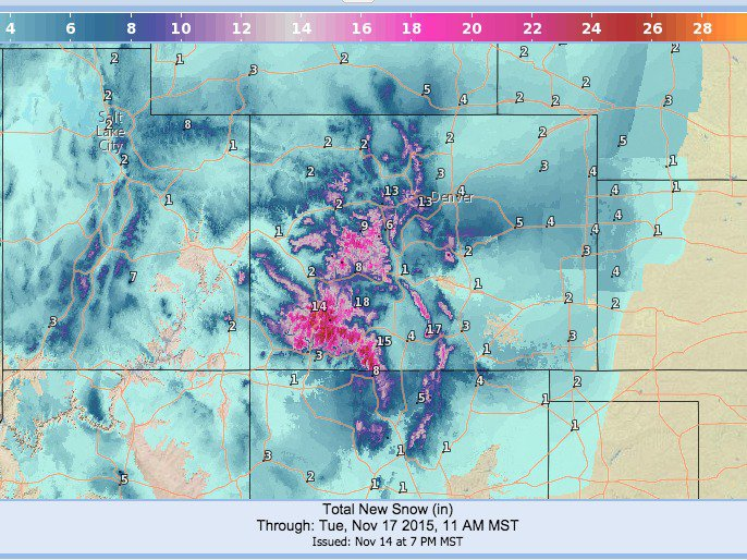 2+ Feet of Snow Coming To Colorado