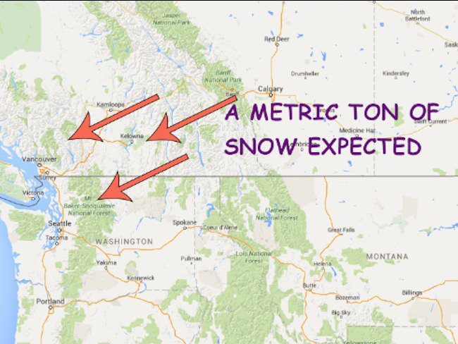 """Whistler Expecting Up To 115"""" Of Snow This Week"""