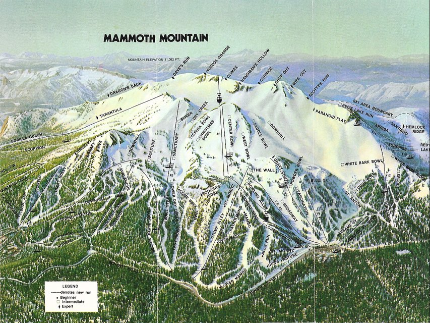 Trail Maps Then And Now: Mammoth, Vail & Killington