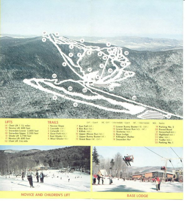 Trail Maps Then And Now Mammoth Vail Killington Newschoolerscom - Mammoth mountain trail map