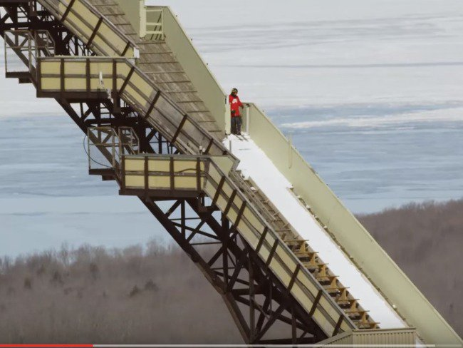 Sammy Carlson Sets New World Record - Spins off 24 Story Ski Jump