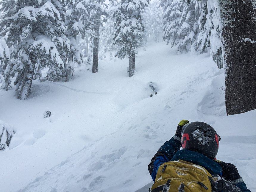 Pow in the baker backcountry