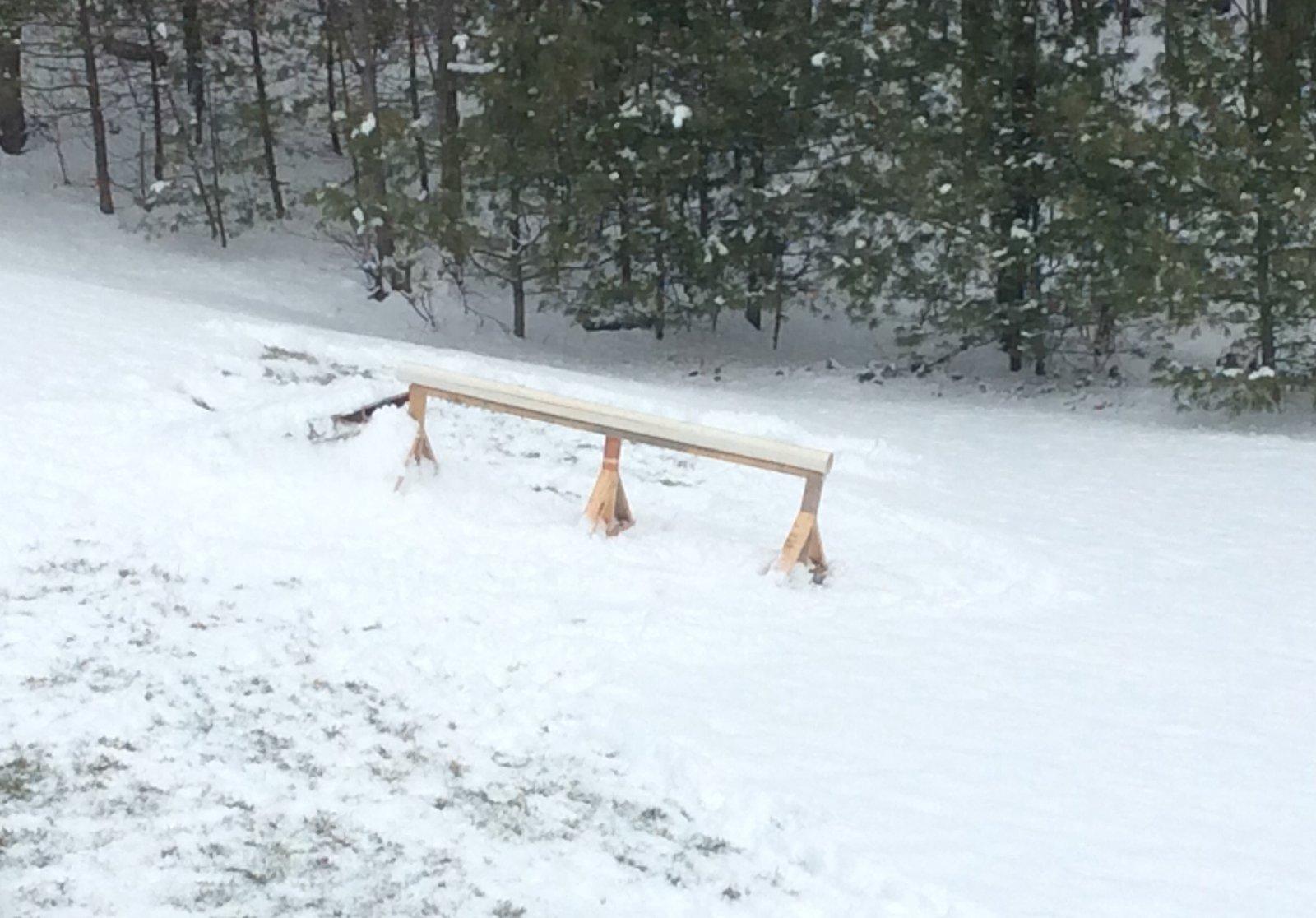Backyard pvc rail