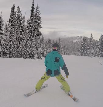 "Skiing ""Backwards"""