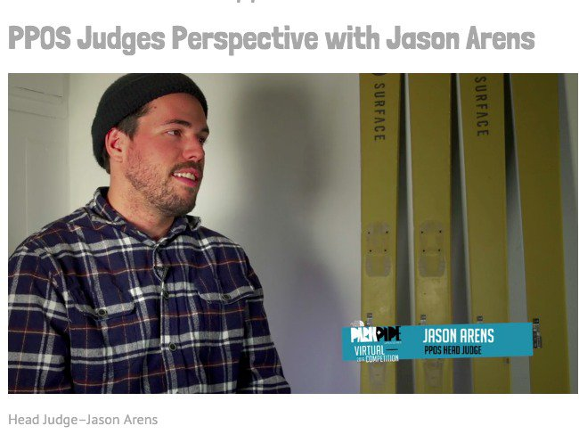 Jason Arens Discusses Judging The North Face PPOS Virtual Comp