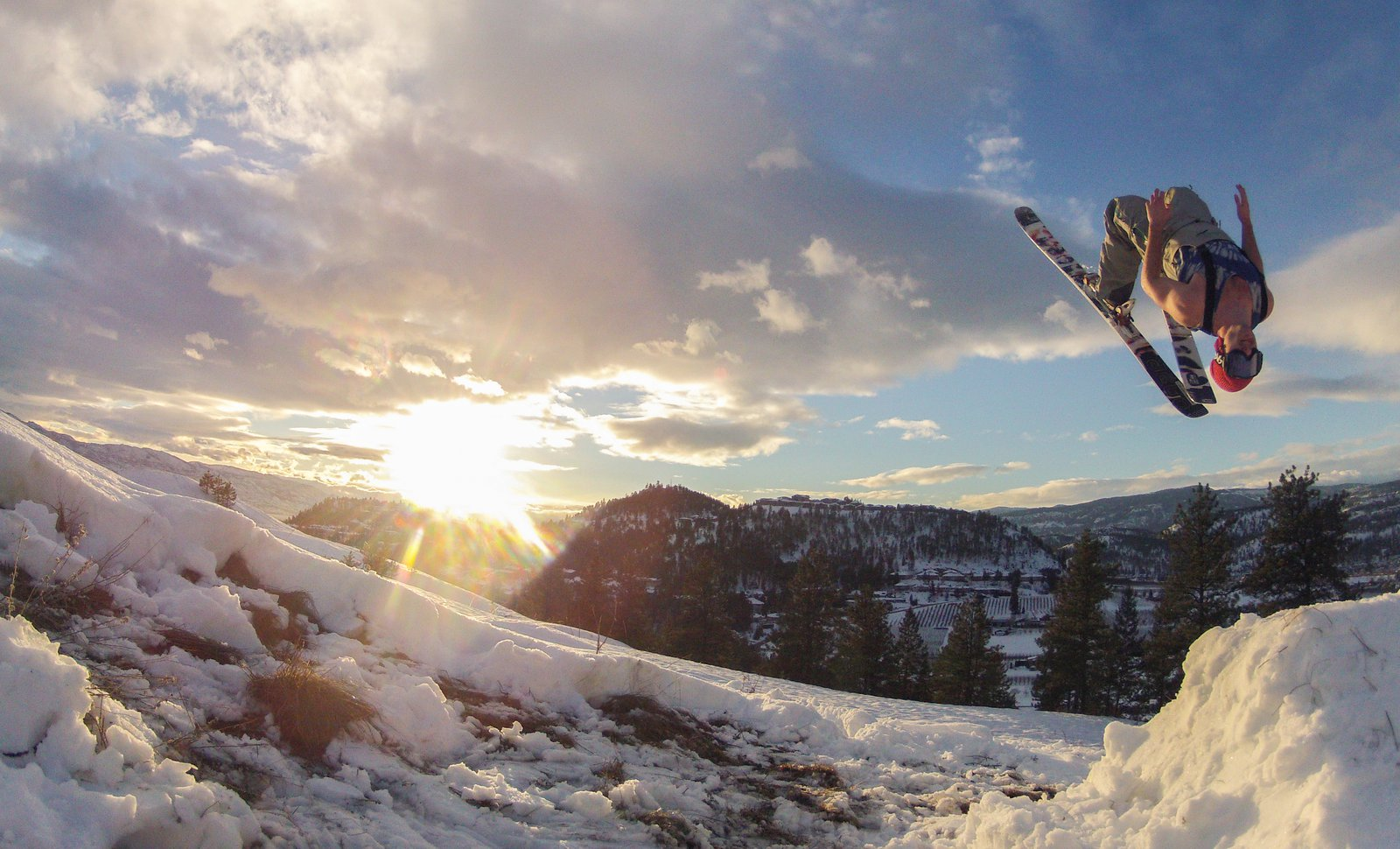 Backflip Above Kelowna