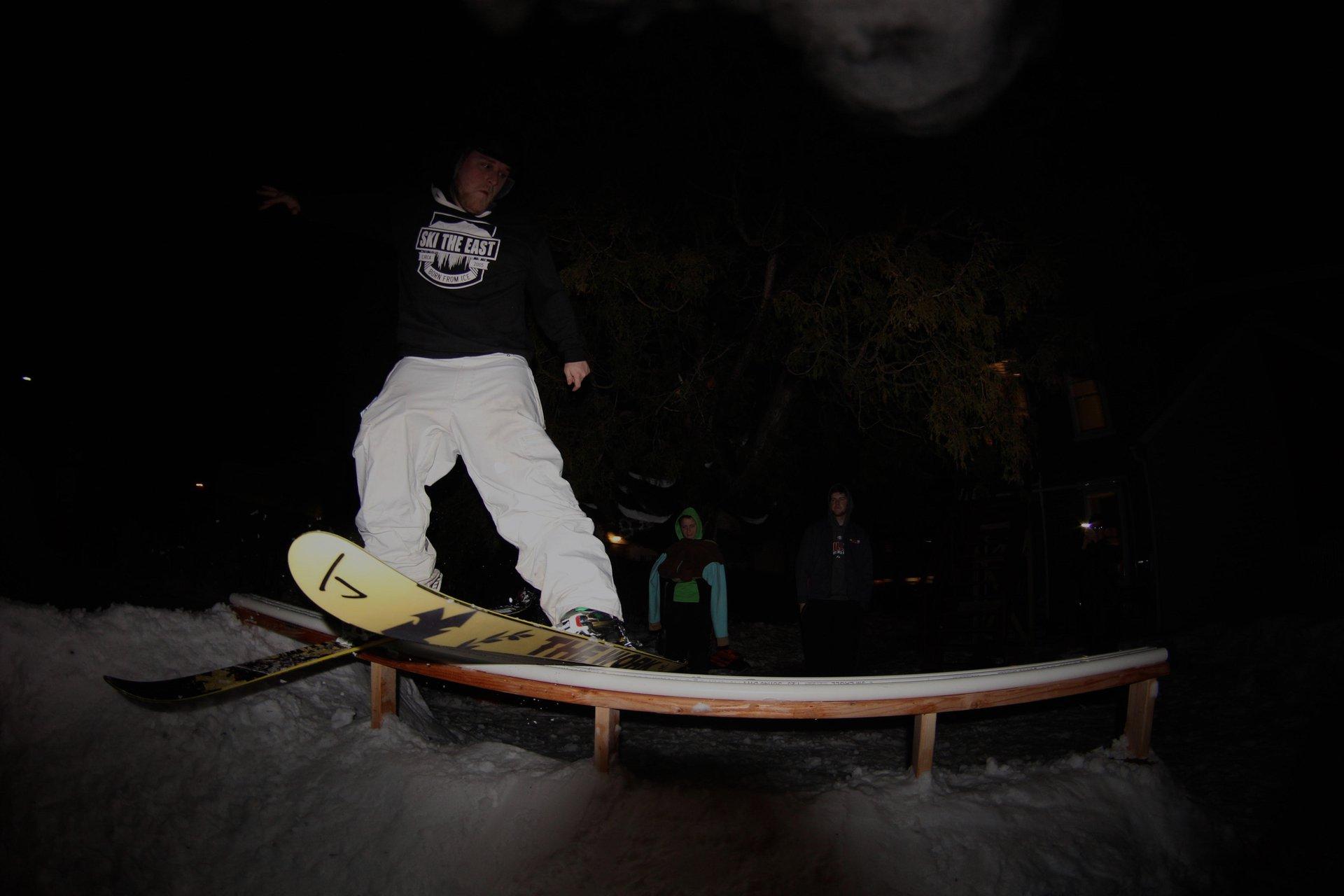 Backyard PVC ski the east