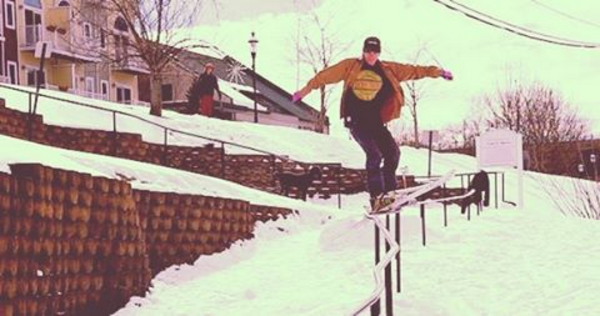 ST's Corey Lilly krooked rail
