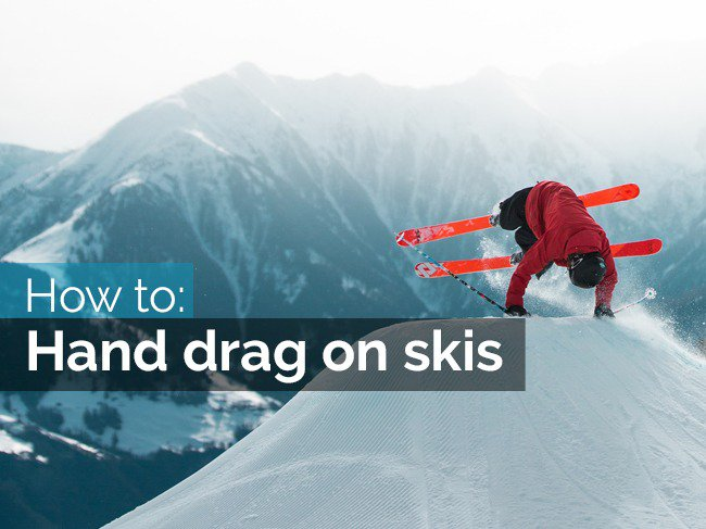 How to hand drag on skis