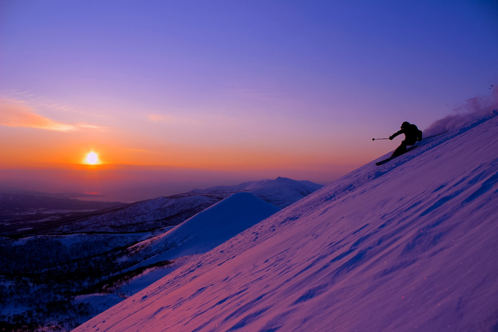 Niseko sunset riding