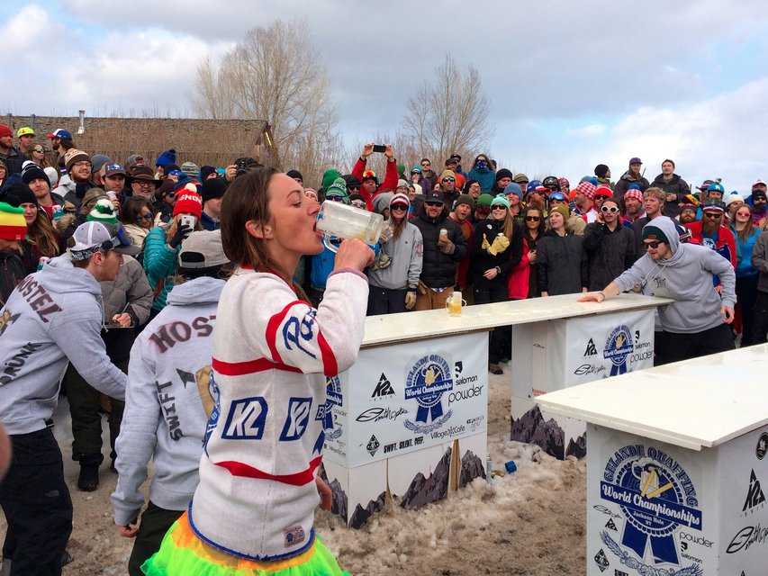 Quaffing: A Drinking Sport for Ski Bums
