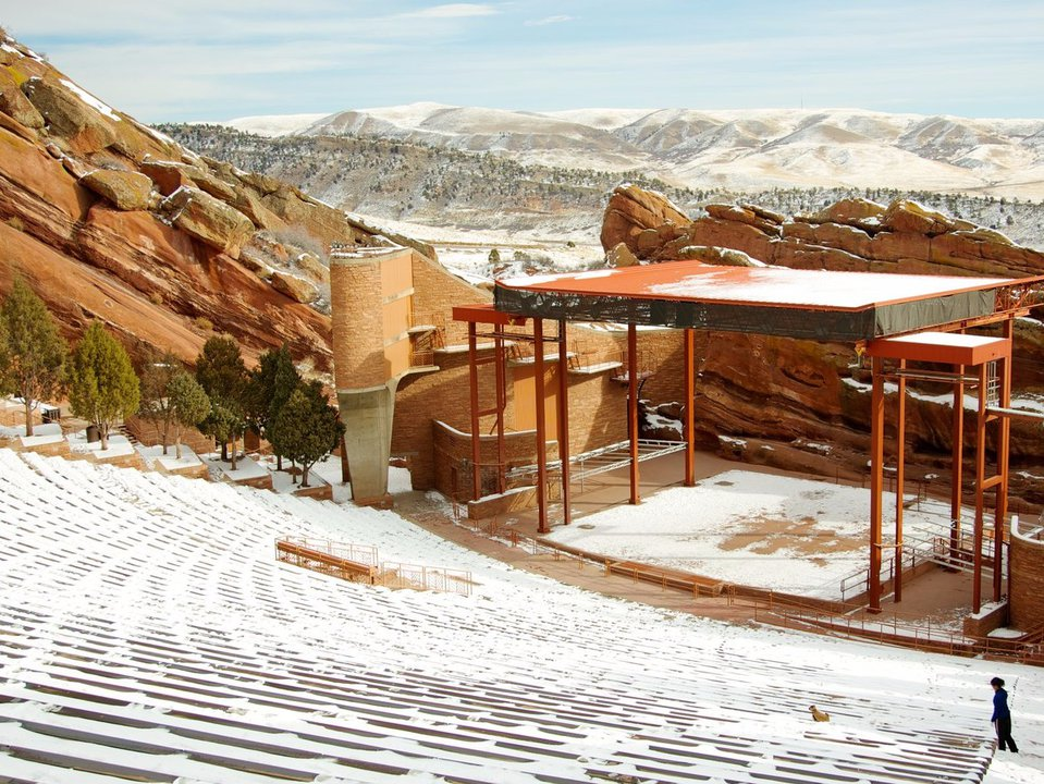 Skiing Red Rocks Amphitheater