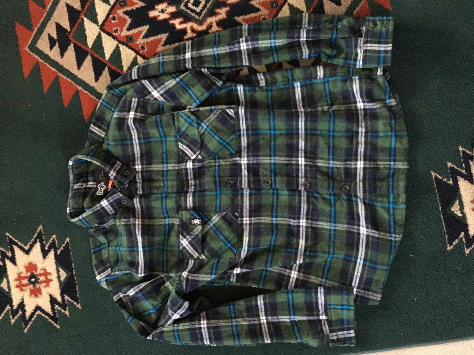 Saga Life Flannel-Green-Large