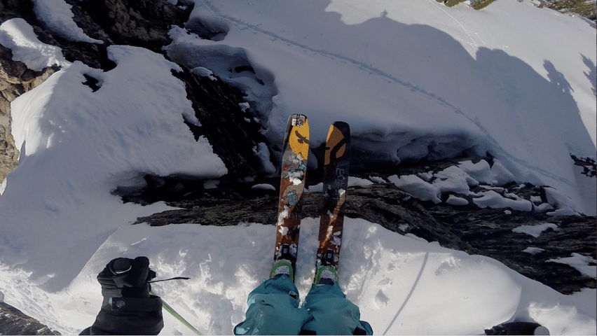 Dropping into my line of the winter