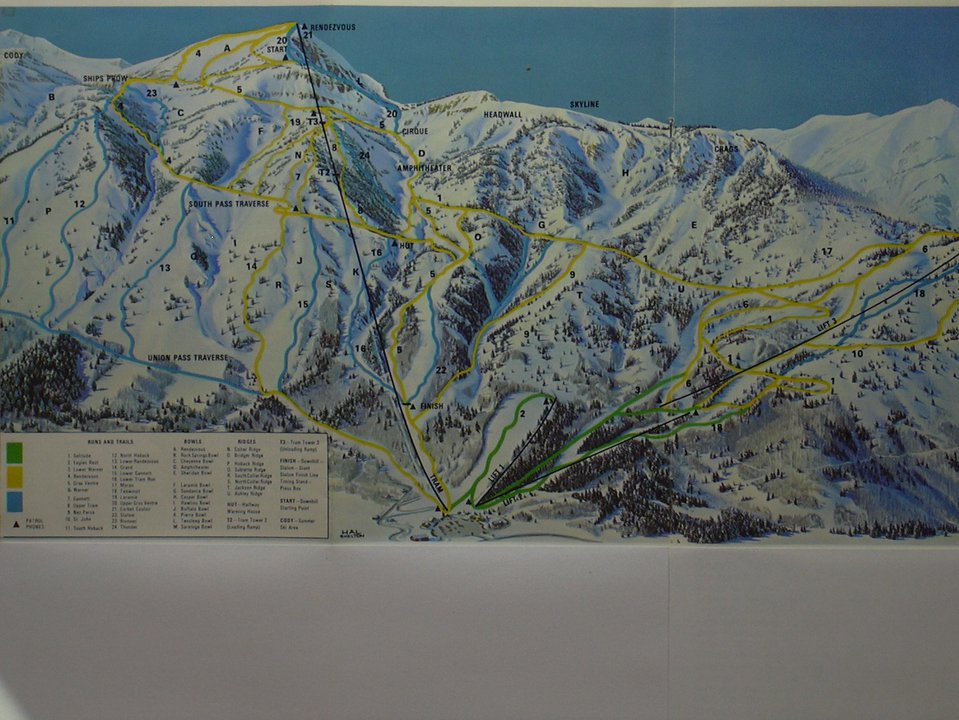 Trail Maps Then And Now Jackson Hole Whistler Blackcomb Loon