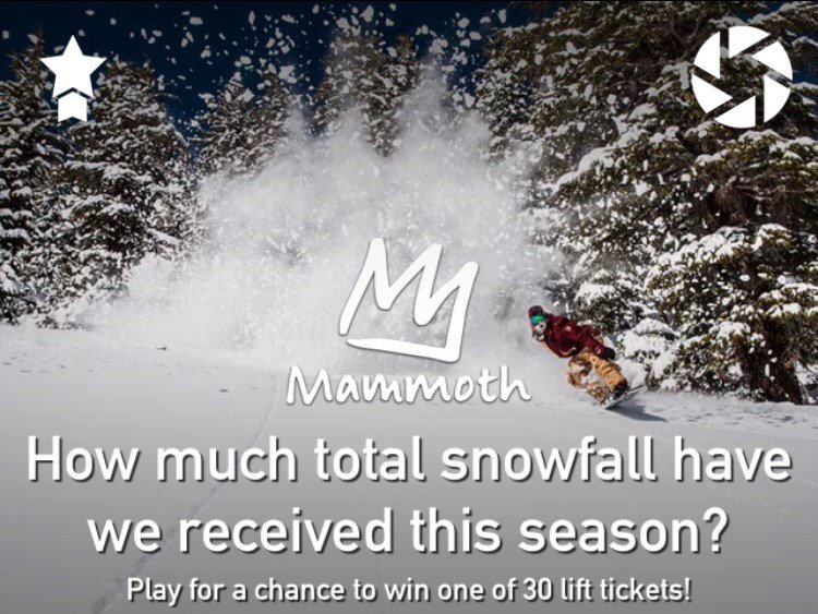 Win free Mammoth Mountain lift tickets!