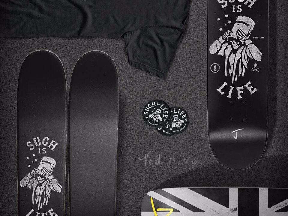 J Drops Limited Edition Ski, Skate Deck, and Tee Collection