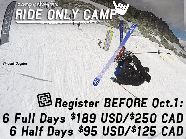 Camp of Champions. Summer Ski Camp for $95USD/$125CAD. WHAT!?