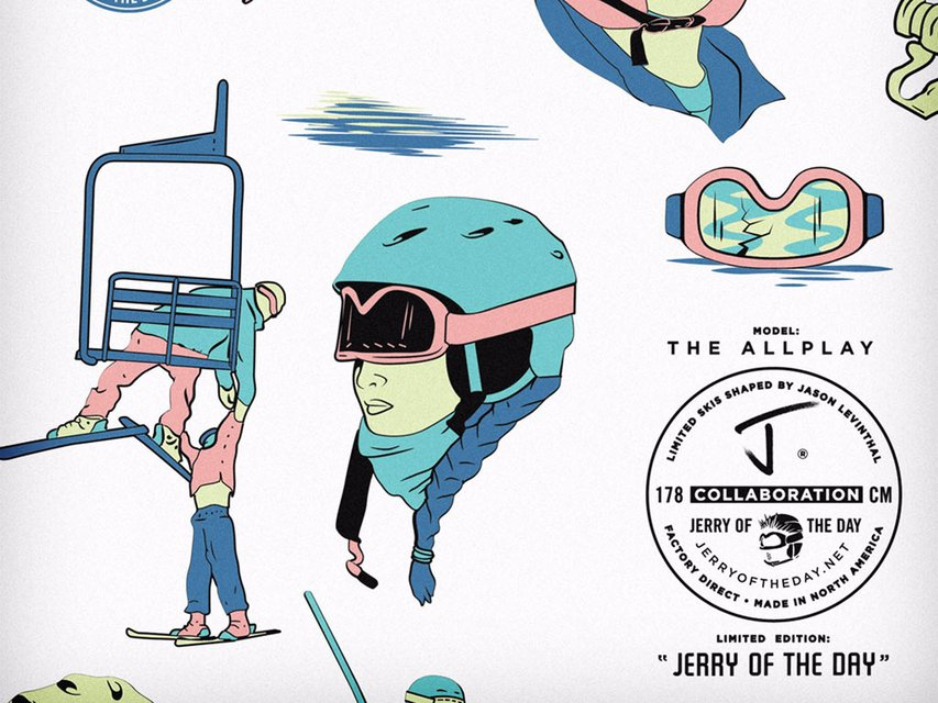 The J x Jerry of the Day Collab Allplay Ski