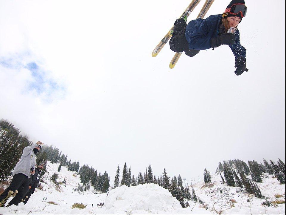 Preseason Skiing Shenanigans at Alta Ski Resort