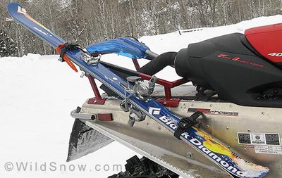 how to make a snowboard rack for a snowmobile