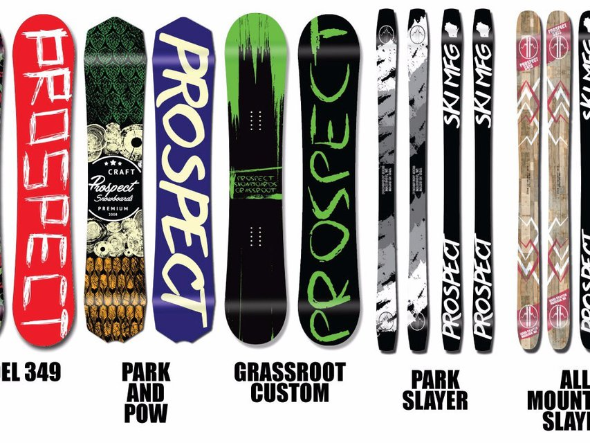 Prospect Skis, Snowboards, and Wakeboards Brings Skis to the lineup for 16/17