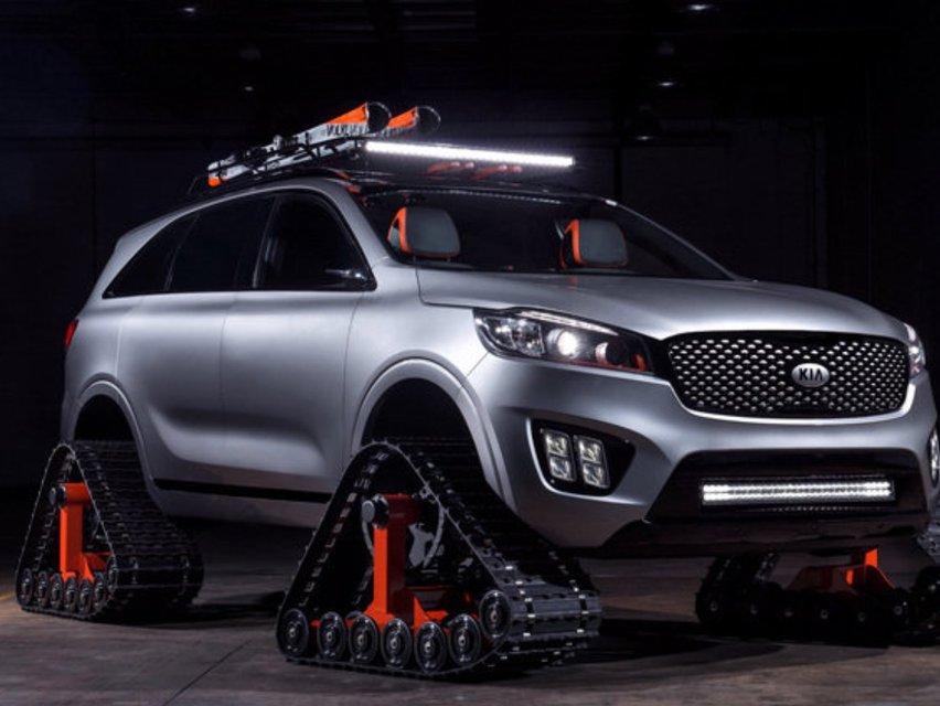 Kia Unveils Snowcat Car