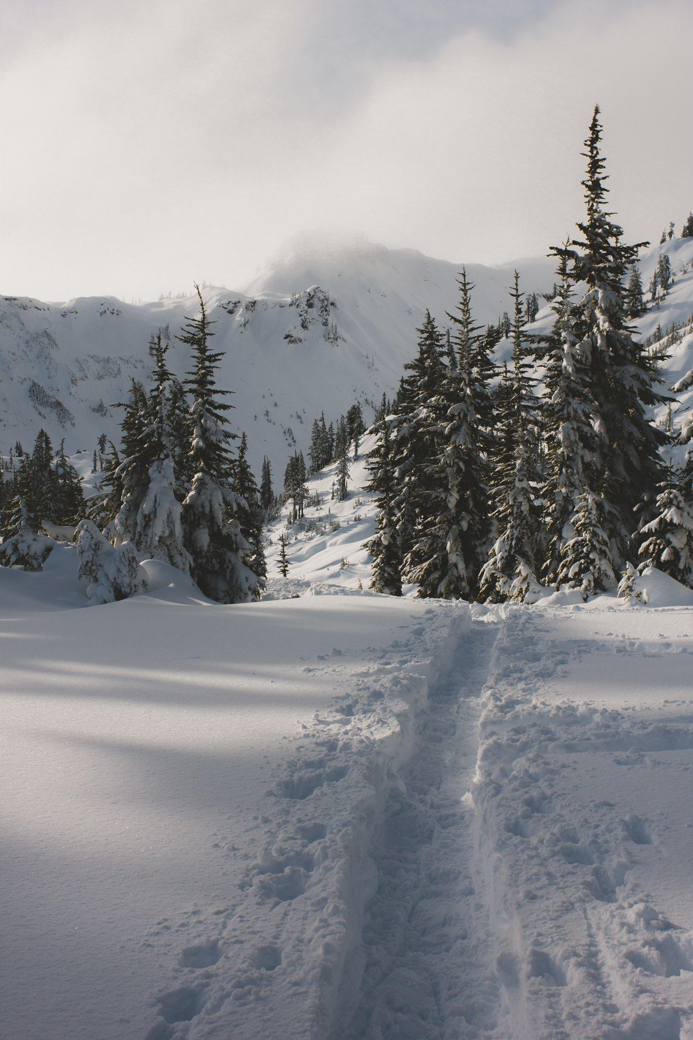Winter has begun at Mount Baker ski area