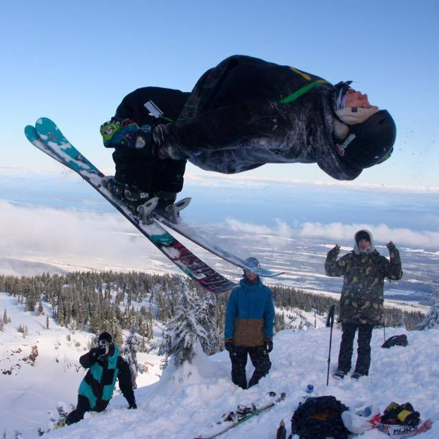 Mount Washington BC Backflip
