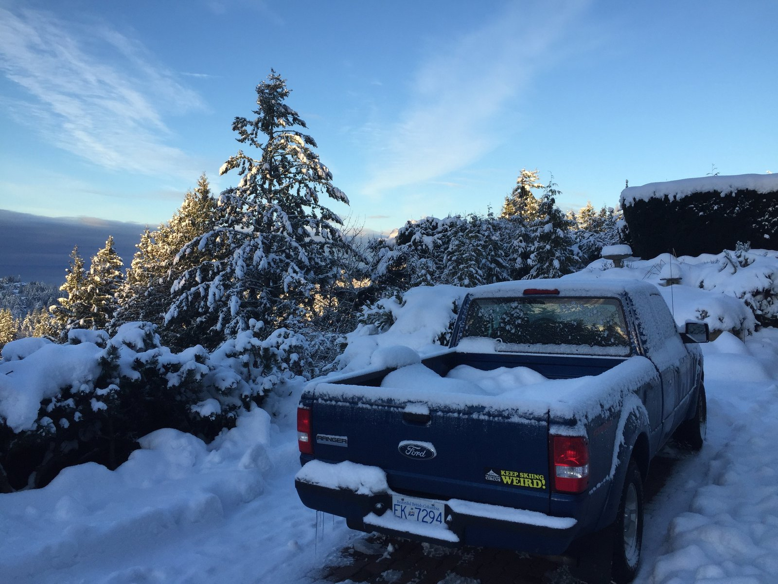 Truck in the Vancouver snow!