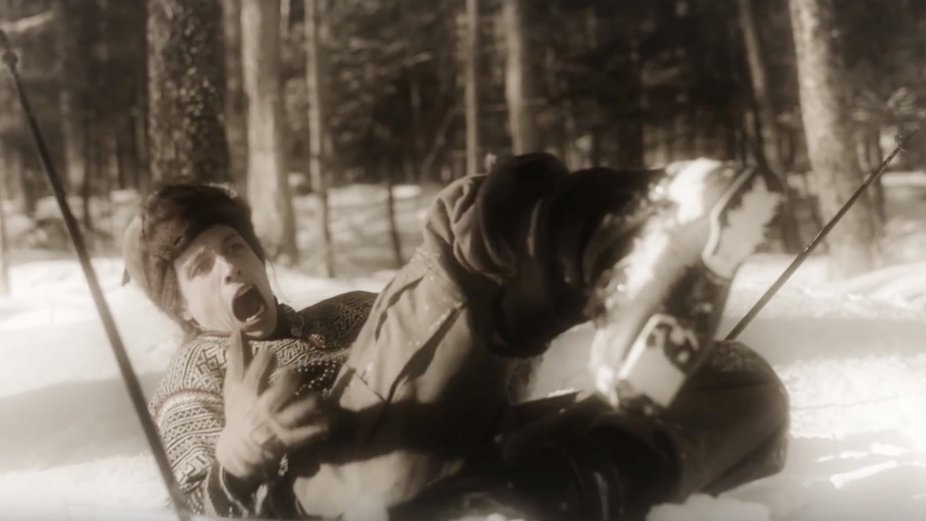 "Ian Compton in Skiing Version of ""Drunk History"""