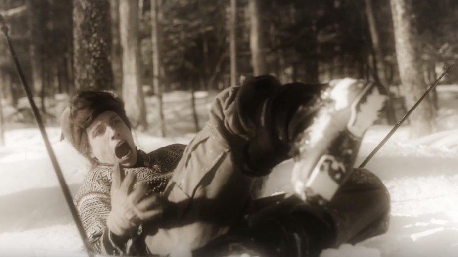 "Ian Compton in Skiing Version of ""Drunk History"""