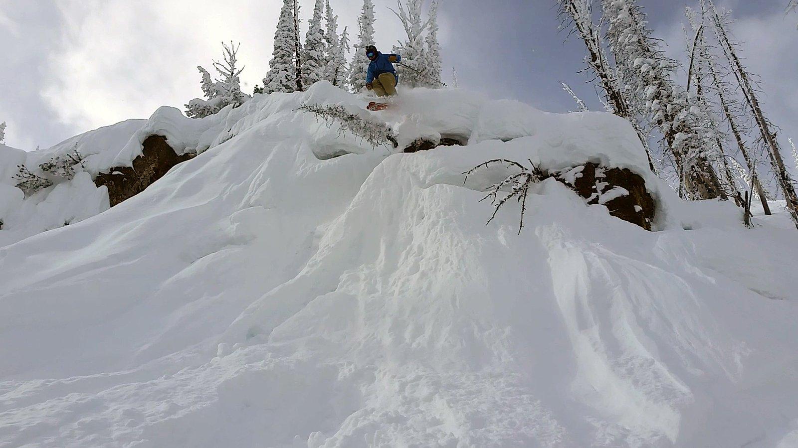 Fun drop, great snow.
