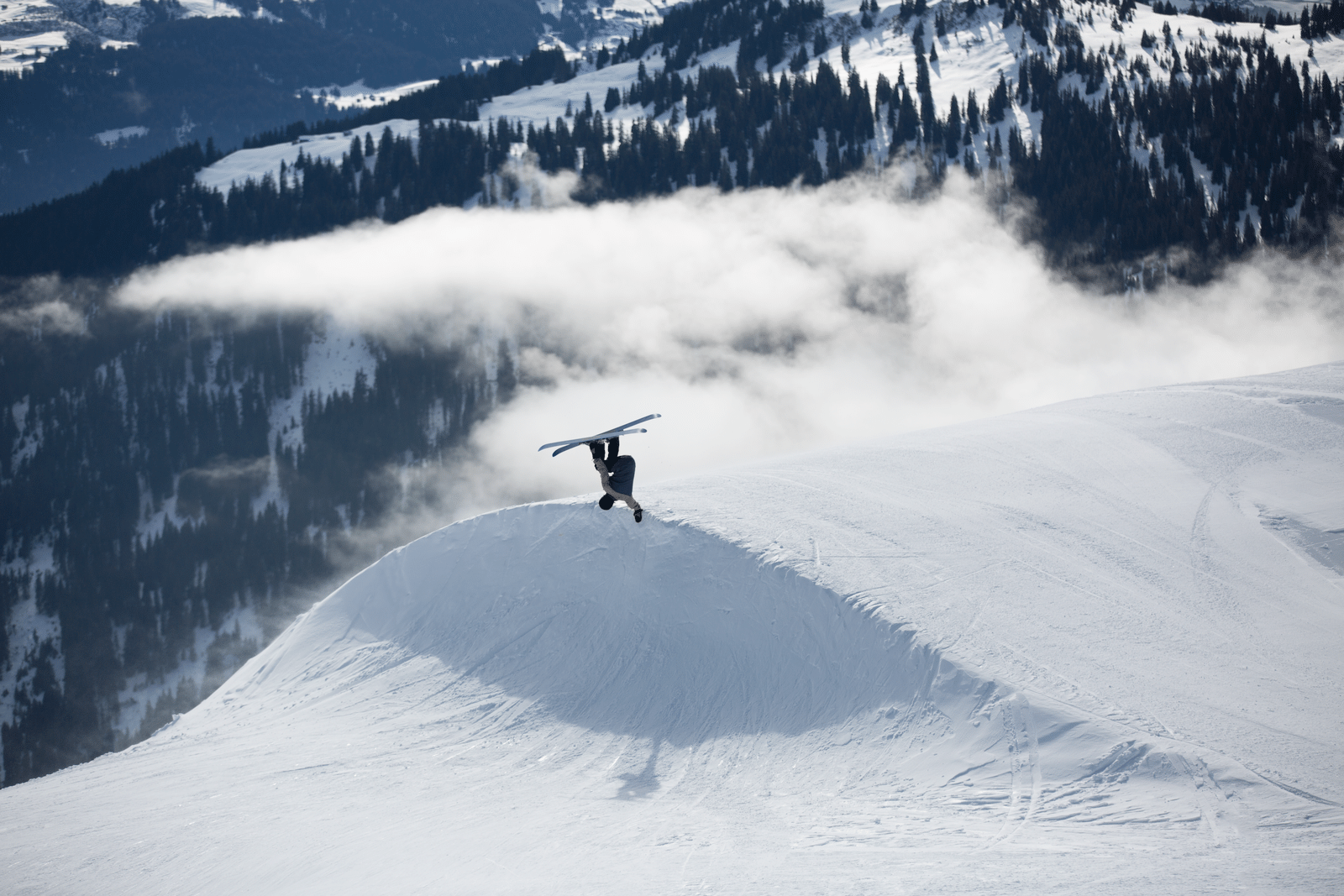 handplant above the clouds