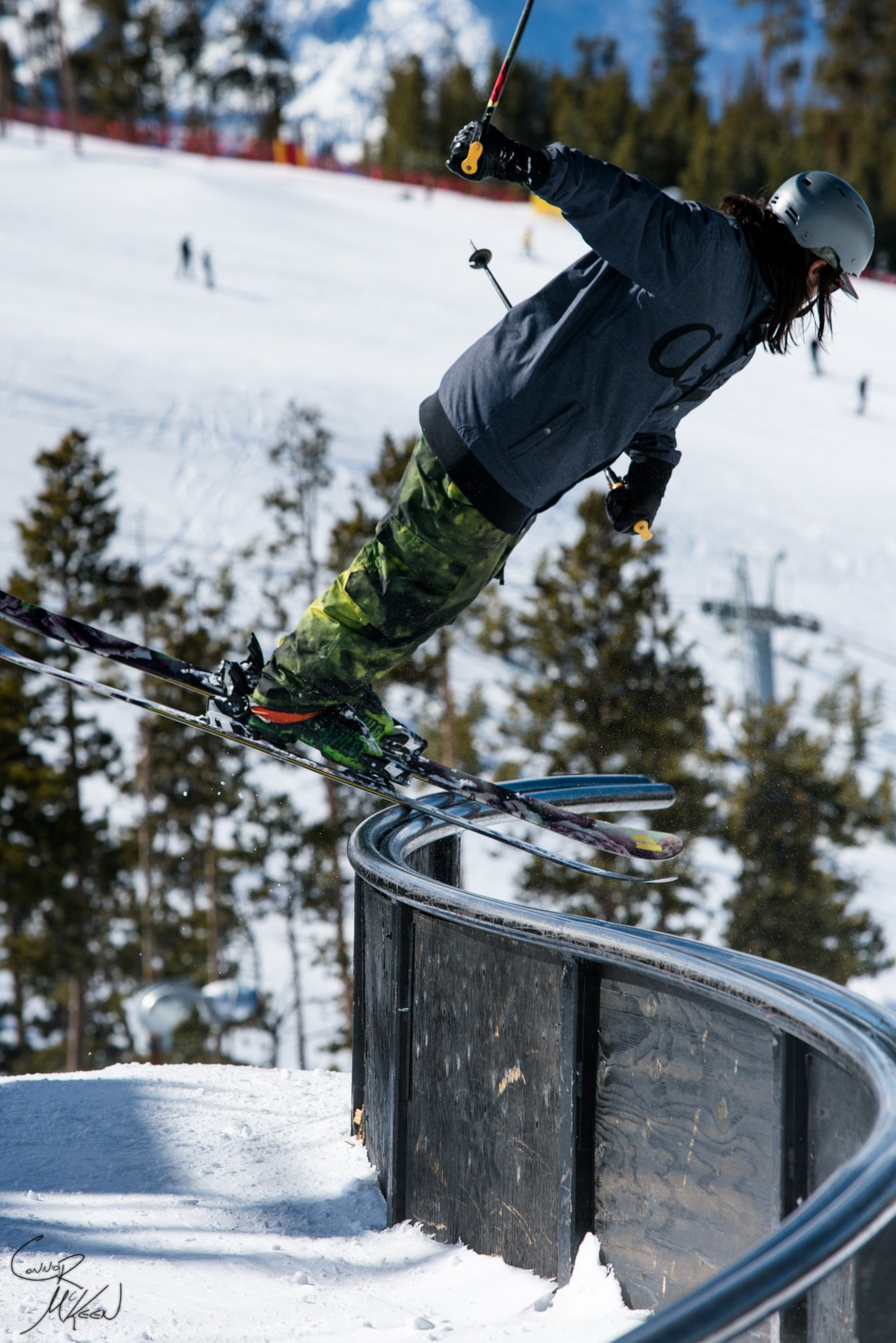 Nose pressin' the S Rail at Keystone