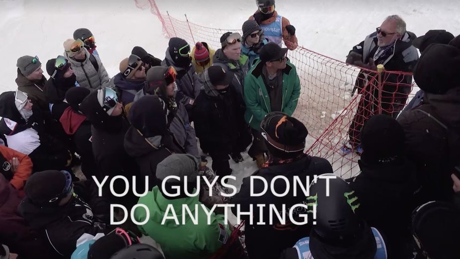 "FIS Official Tells Pros At Contest ""You Don't Do Anything"""