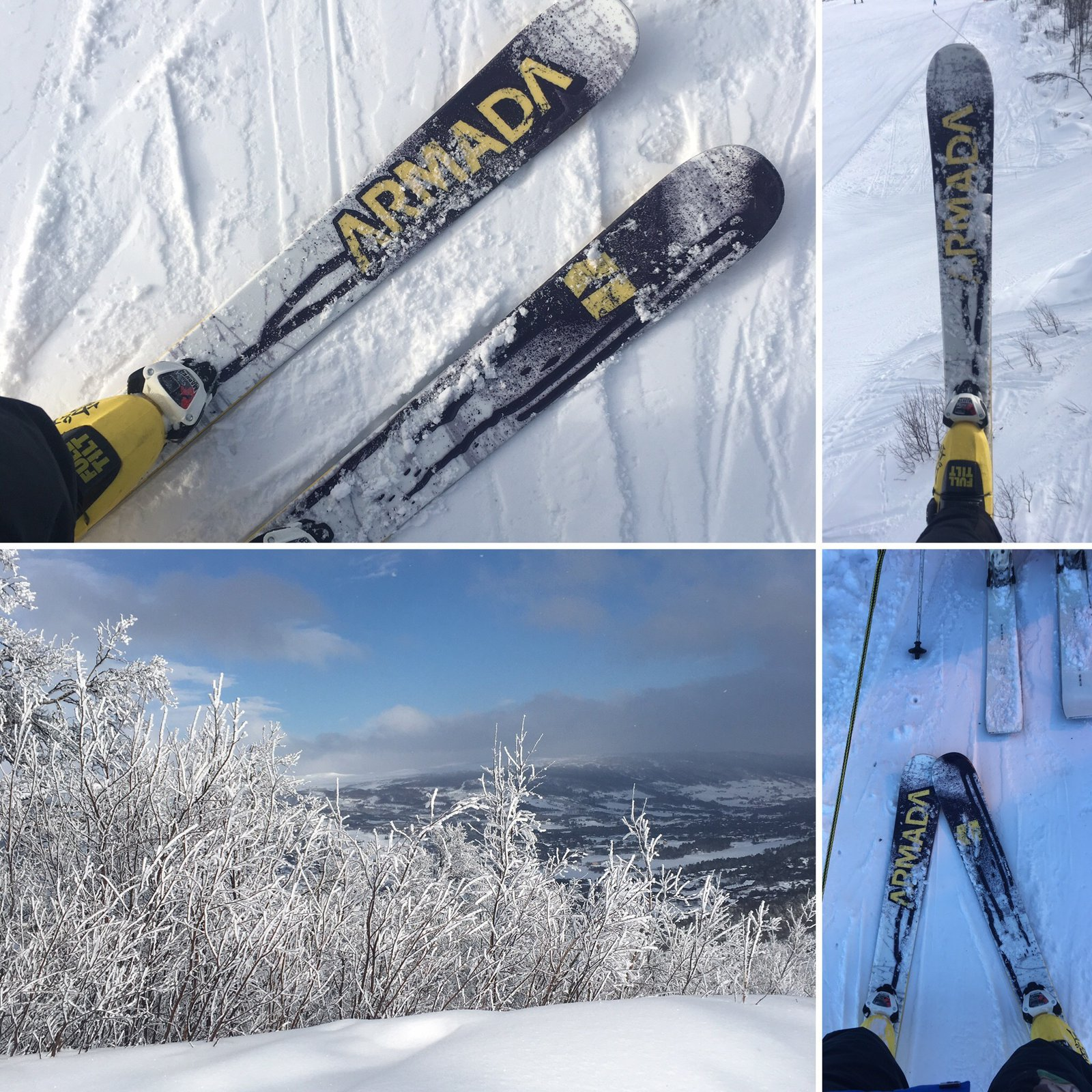Winter, skis and snow