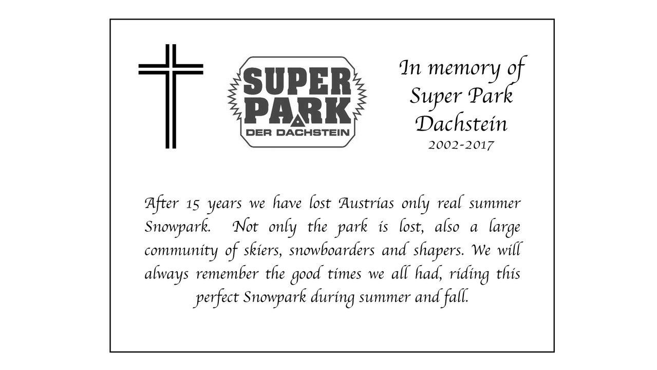 RIP Superpark Dachstein