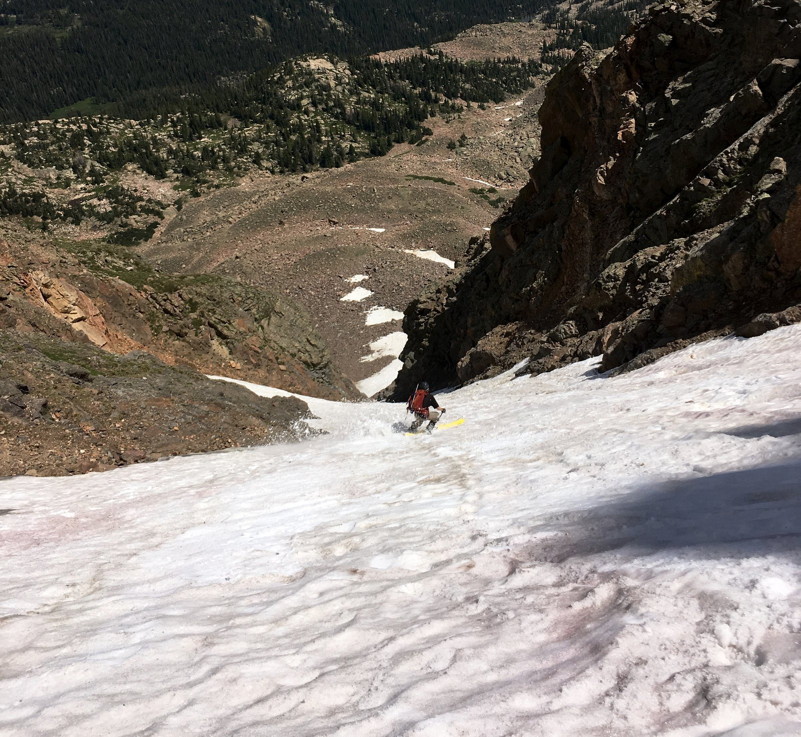 Skiing Palomino Couloir- August 7th