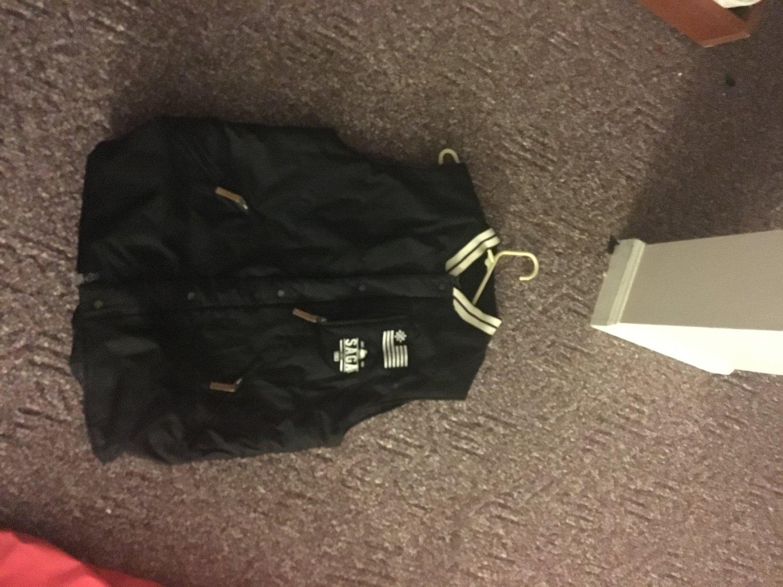 Saga Black Vest Large