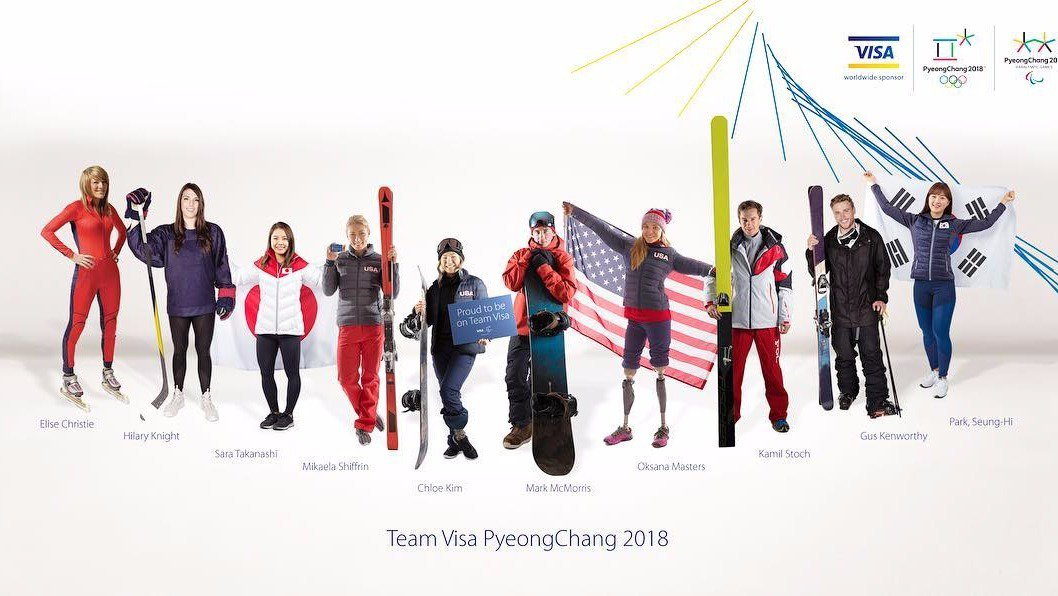 Visa Announces Olympic Team AKA People They Won't Care About In 5 Months