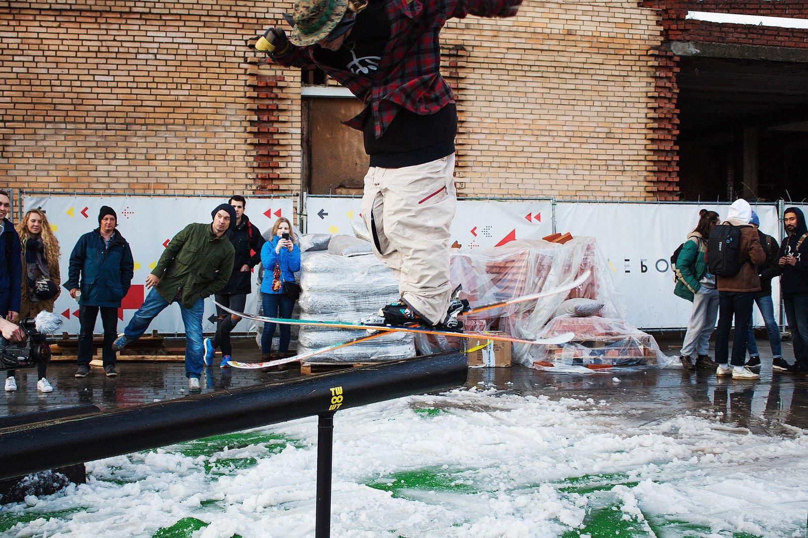 autumn fun ski contest in mocsow
